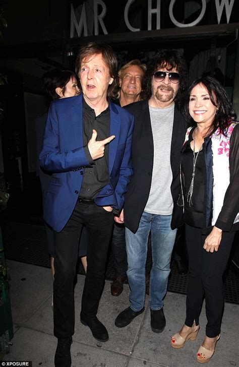 Paul McCartney and wife Nancy Shevell dress to match as
