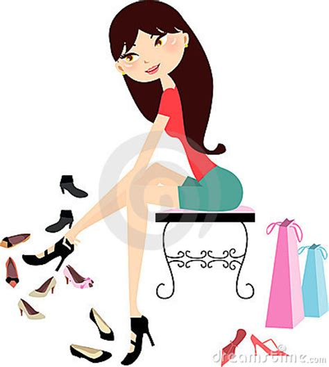 Shopping Girl In Shoe Store Stock Images - Image: 11859674