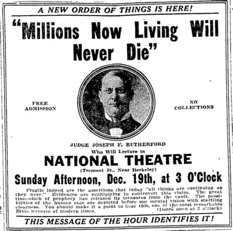 1925 and the Watchtower teaching that Millions now living