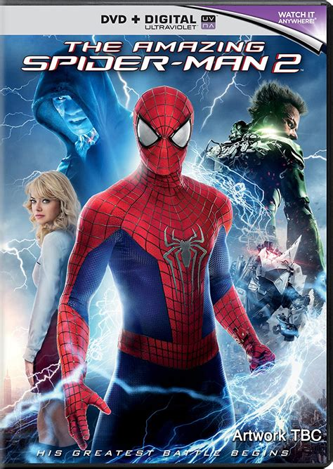 'The Amazing Spider-Man 2' DVD/Blu-Ray cover and details