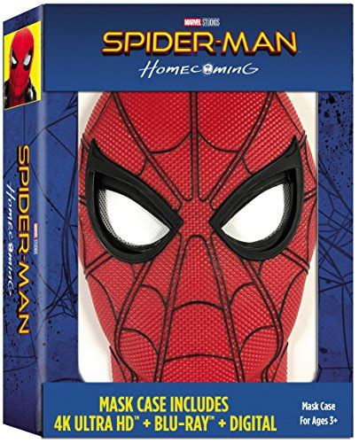 Spider-Man: Homecoming Exclusive Mask Case (Includes 4K
