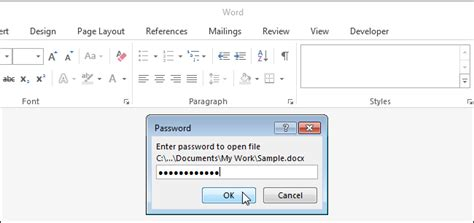 How to Add an Open Password to a Word Document