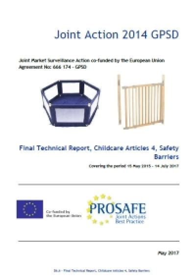 PROSAFE: Final Technical Report, Childcare Articles 4