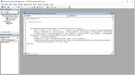 Business Intelligence: Automating Power Query with VBA