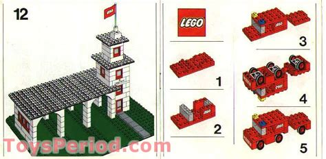 LEGO 357-1 Fire Station with Vehicles Set Parts Inventory