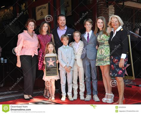 Chris O'Donnell & family editorial stock image